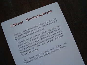 Bücherschrank-Text