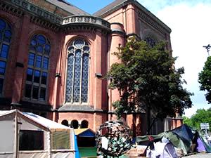 johanneskirche und blockupy