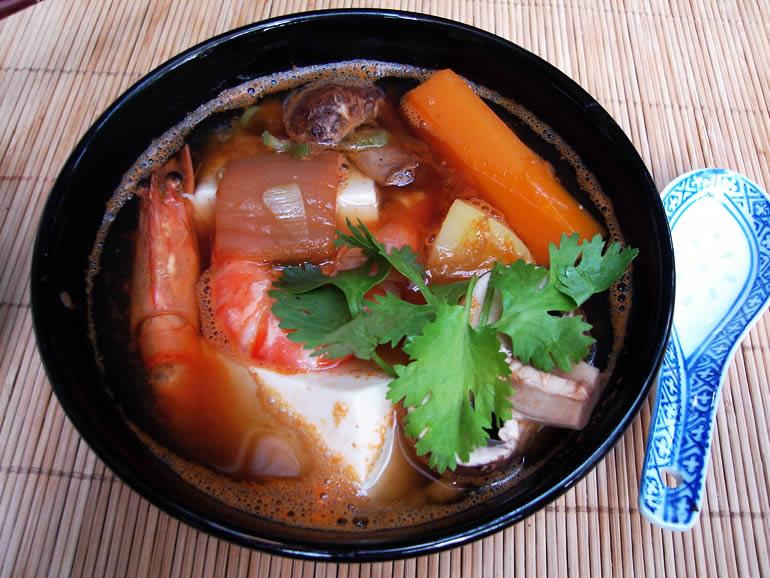 Sundubu Jjigae-koreanischer tofu eintopf