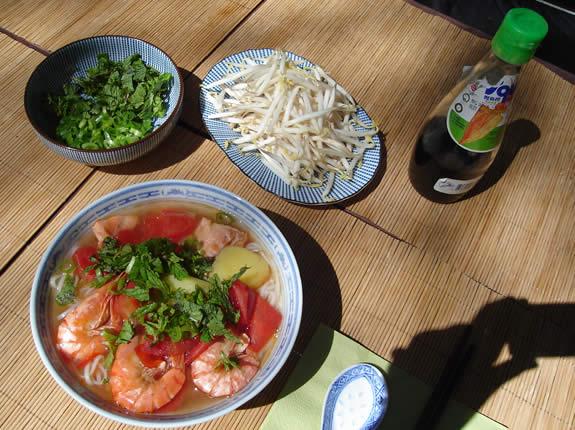 Reisnudeln Seafood Beilagen