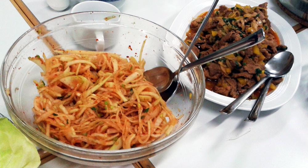 Koreanischer Kochkurs-Rettichsalat