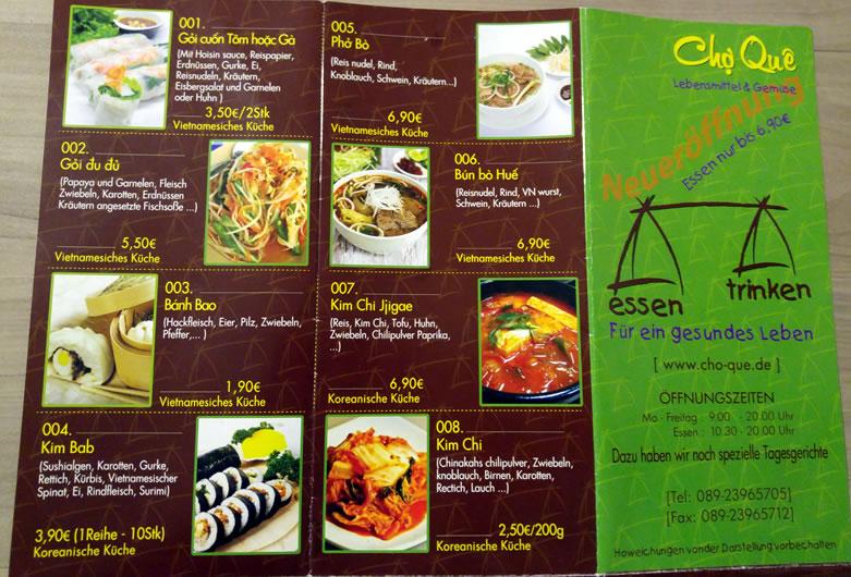 Vietnamesisch Koreanischer Asialaden In München Chan Auf Futtersuche